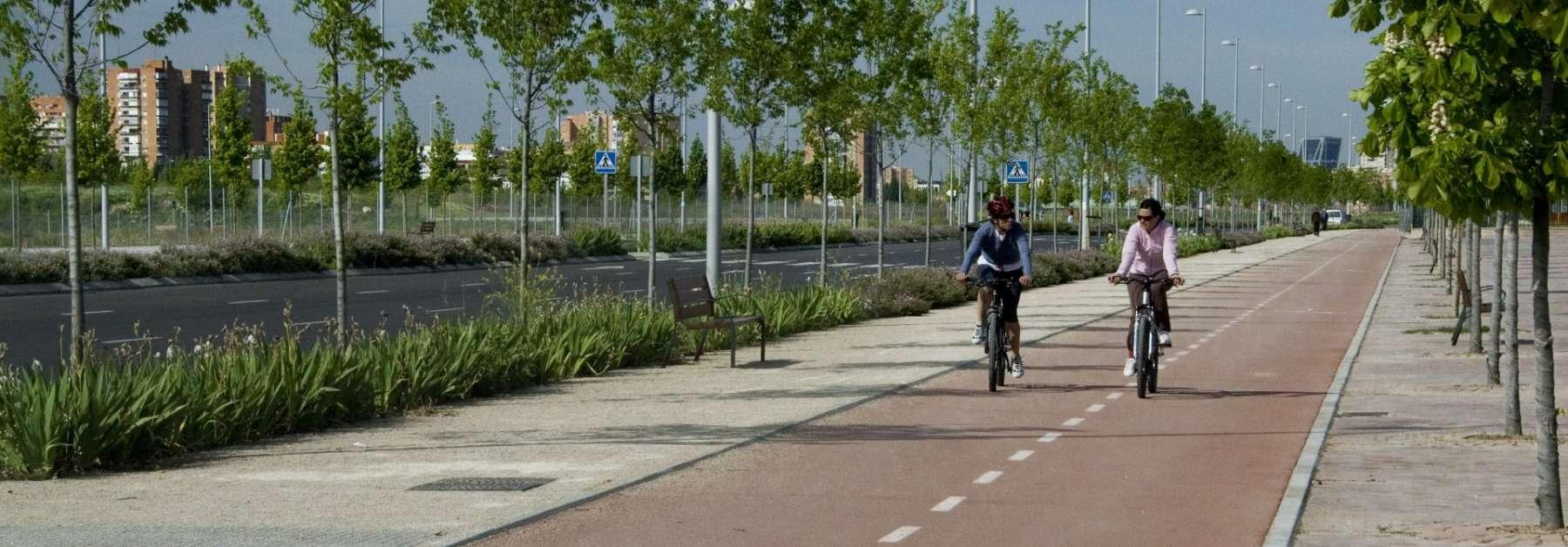 Valdebebas cuenta con <br/> 27 km de carril bici
