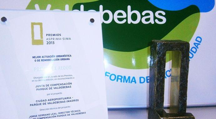 Valdebebas obtiene el premio internacional ASPRIMA-SIMA 2013 a la Mejor Actuación Urbanística