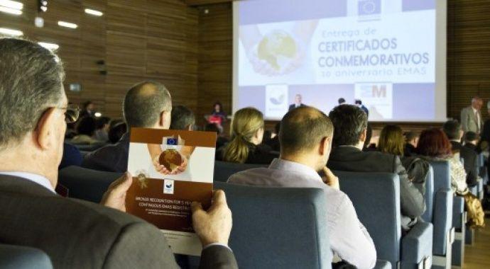 Valdebebas recibe el Certificado de Bronce EMAS, que reconoce más de 5 años de antigüedad con la más alta calificación ambiental europea