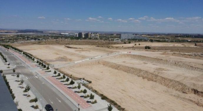 Estado del avance de las obras de urbanización de Valdebebas