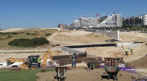 Obras de urbanización del Parque Central de Valdebebas