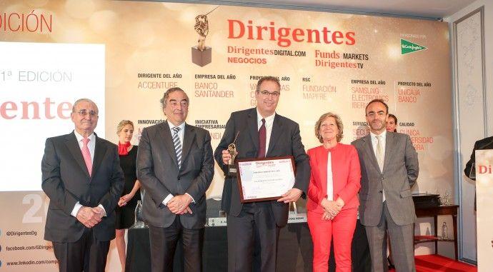 Premio 'Proyecto del año' por la revista Dirigentes para Valdebebas, galardonada bajo el título: 'El Madrid del futuro'