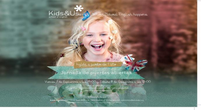 ¡Nueva Jornada de Puertas abiertas en la escuela de inglés Kids&Us Valdebebas!