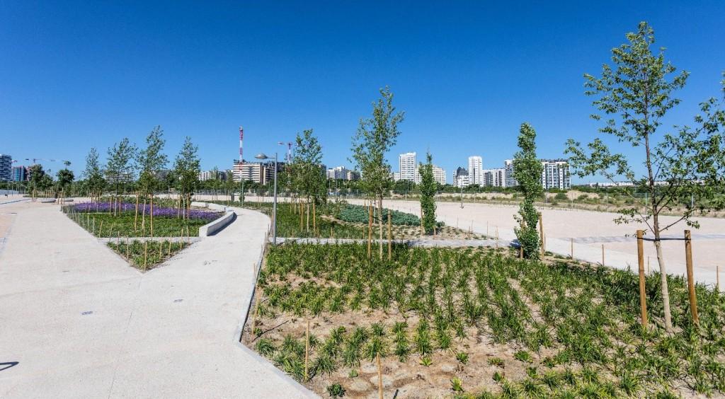 Valdebebas incorpora un nuevo Parque de la Centralidad a su oferta de zonas verdes
