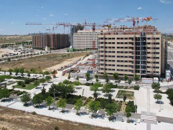 Fotos a reas de la construcci n de vivienda en valdebebas for Barrio ciudad jardin madrid