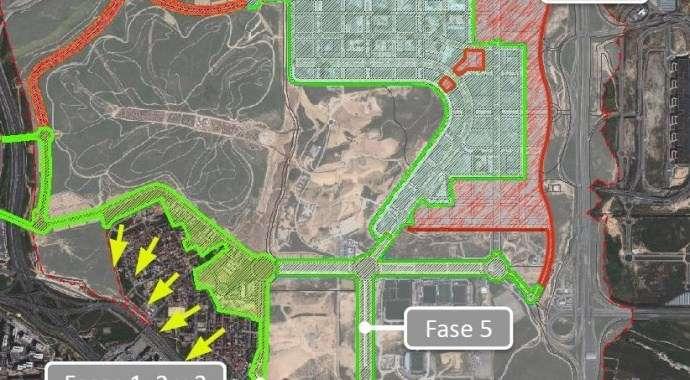 Planos esquemáticos del viario de Valdebebas abierto en agosto de 2013