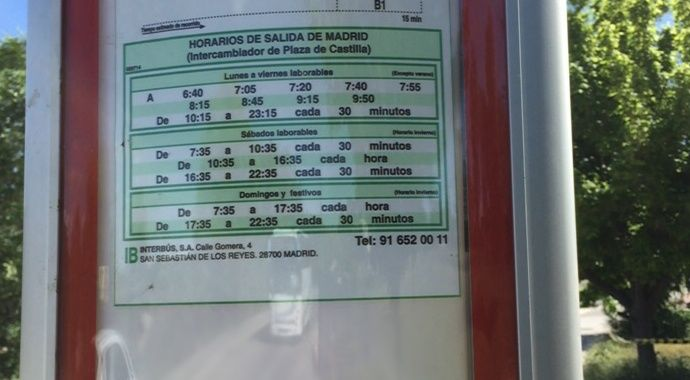 El Remate del Encinar de los Reyes, conecta por bus con Plaza de Castilla de lunes a viernes