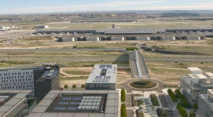 Comienza la conexión de la zona empresarial de Valdebebas con el aeropuerto Madrid Barajas