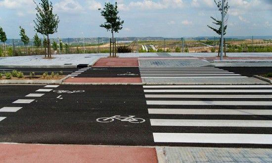 Sidewalks and bicycle lanes