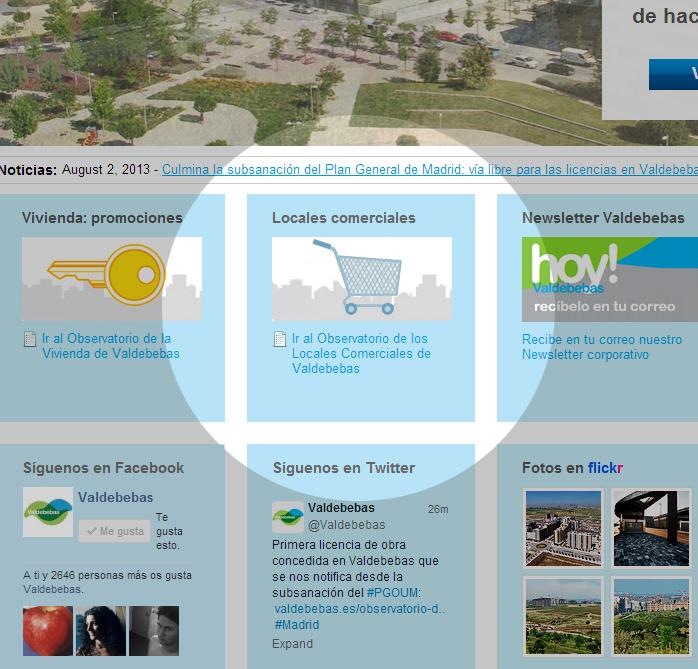 Observatorio de los Locales Comerciales de Valdebebas - Listado de locales para comercios